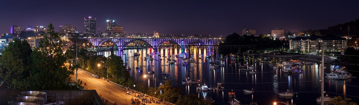 Knoxville, Panoramic, Reflection, Architecture