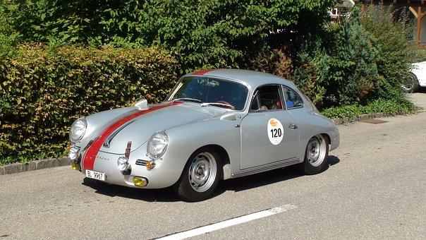 Racing Porsche, Hillclimb, Walzenhausen, Auto, Old