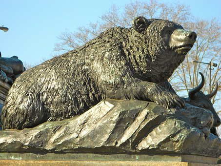 Philadelphia, Pennsylvania, Statue, Bear, Close-up, Art