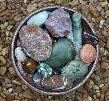 Handmade Bowl, Tumbled Stones, Stones, Bowl, Stoneware