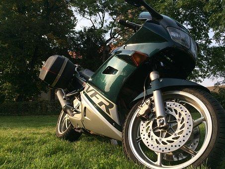 Motorcycle, Honda, Vfr, Brake, Mature
