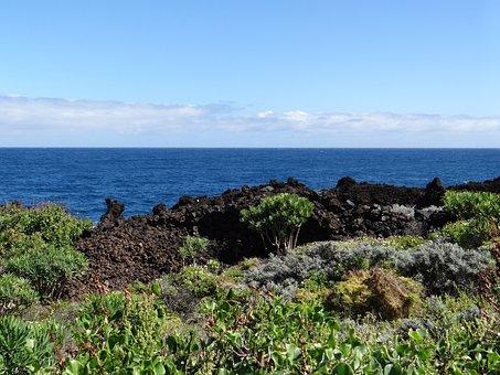 La Palma, Canary Island, Cliffs, Sea, Vision, Clouds