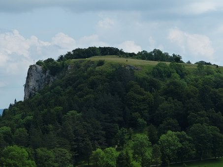 Lochenstein, Mountain, Rock, Cross, Summit Cross