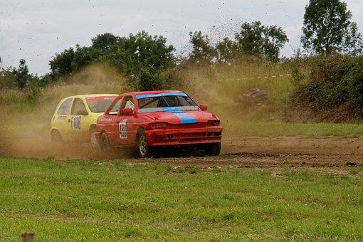 Autocross, Motorsport, Ford, Escort, Opel, Corsa, Race