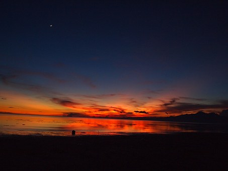 Sunset, Glow, Republic Of The Philippines, In The Dark