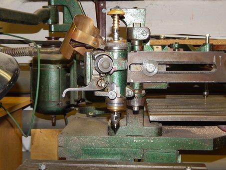 Grawerska Machine, Grawerka, Machining, Metal, Milling