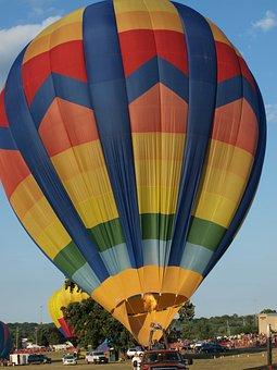 Hot Air Balloon, Balloon, Canton, Hall Of Fame