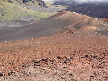 Hawaii, Maui, Volcano, Crater