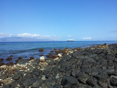 Maui, Beach, Rocks, Hawaii, Hawaii Beach, Ocean, Travel