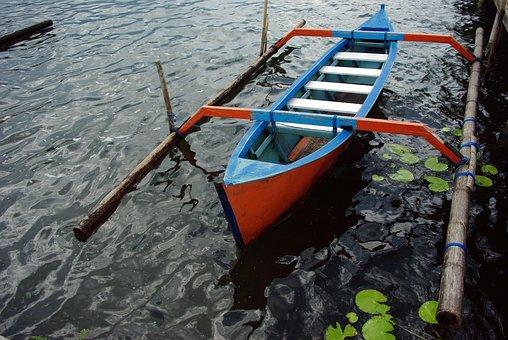 Indonesia, Bali, Boat, Pendulum, Batur Lake, Water