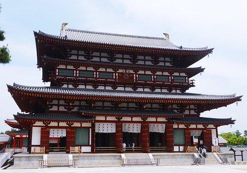 Yakushiji, Nara, Kondo, Red, Gold, Japan