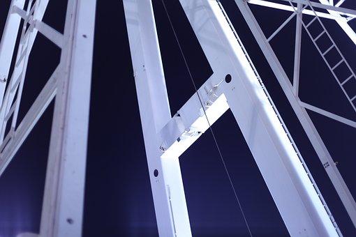 Linkage, Metal, Night, Ferris Wheel, Hustle And Bustle