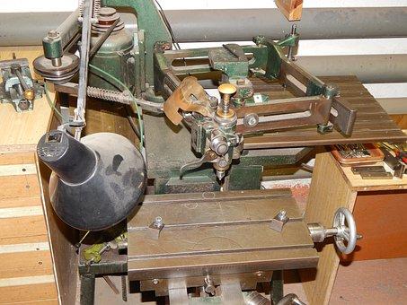 Grawerska Machine, Grawerka, Milling, Machining, Metal