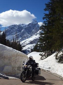 Moto, Dolomites, Thaw, Honda Crosstourer, Staulanza