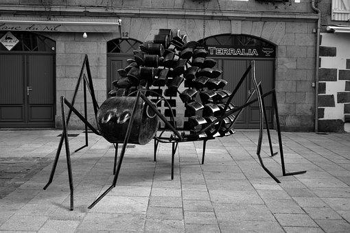 Sculpture, Ant, Metal, Art, Sculpture Metal, Outside