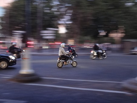 Paris, Honda Dax, Bike, Movement, Exit, Drive