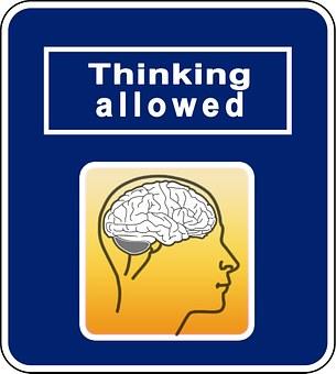 Brainstorming, Think, Road Sign, Shield, Brain, Turn On