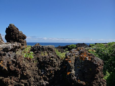 La Palma, Canary Island, Volcanic Rock, Rock, Sea