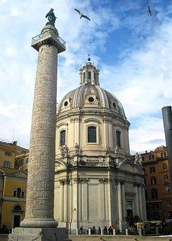 Vía Dei Fori Imperiali, Rome, Italy, Europe, Roman
