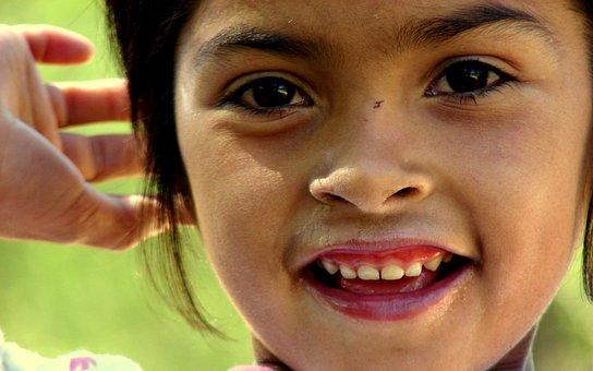 Girl, Smiling Girl, Joy, Portrait, Poverty, Humility