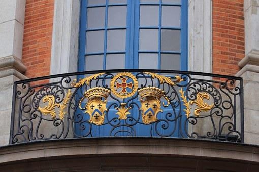 Capitole, Toulouse, Balcony, France, Building