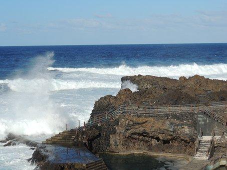 Spray, Fajana, La Palma, Wave, Canary Islands