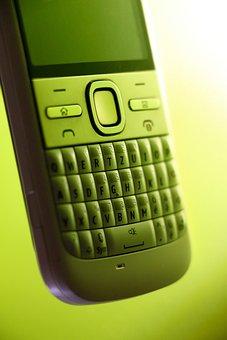 Smartphone, Mobile, Back Light, Oblique, Qwertz