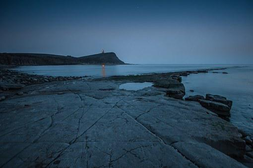 Ocean, Kimmeridge Bay, Twilight, Coast