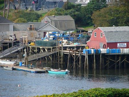 Glen's Lobsters, Maine, Lobsters, Waterfront