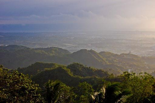 Mountains, Green, Sunrise, Cebu, Philippines