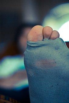 Holes, Socks, Toes, Sock, Toe, Foot, Toenail