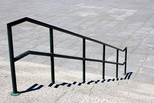 Stairs, Rail, Railing, Steps, Stone Steps, Smooth Path