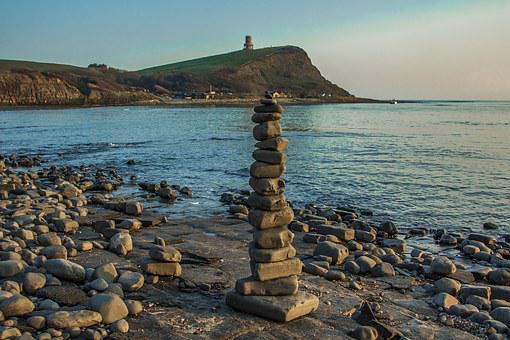 England, Kimmeridge Bay, Ocean, Stones, Building