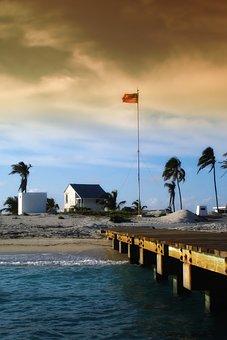 Dry Tortugas, Sea, Ocean, Water, Pier, Shoreline, Palms