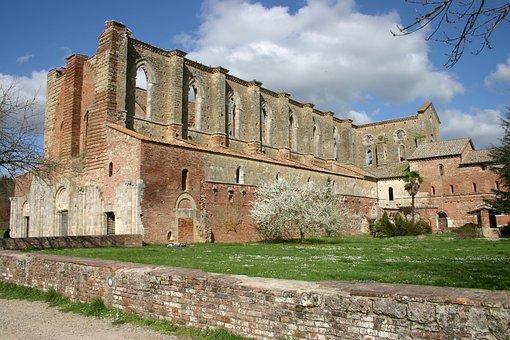 Tuscany, Monastery, Abbey, Abbazia San Galgano, Vault