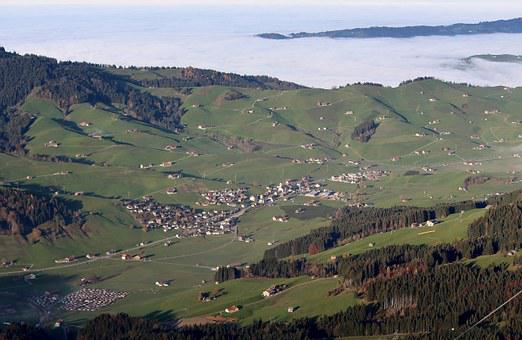 Gonten, Alpine, Appenzell, Switzerland, Panorama, View