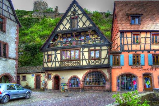 Kaysersberg, Alsace, France, Truss, Photo Filter