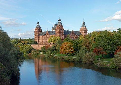 Aschaffenburger, Bavaria, Germany, Castle, Building