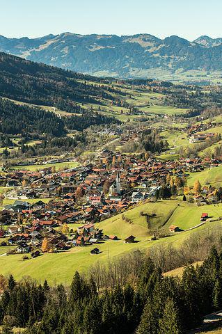 Bad Hindelang, Ostrachtal, Village, Allgäu, Alpine