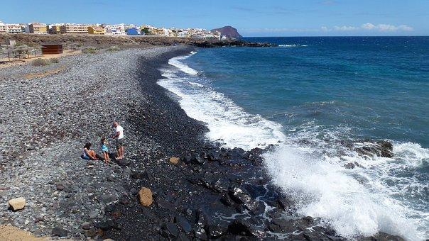 Tenerife, South, Los Abrigos, Beach, Sea, Ocean