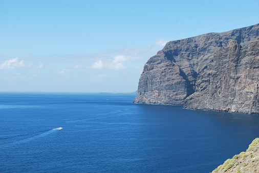 Nature, Sea, Cliff, Boat, Ocean, Landscape, Costa, Sky