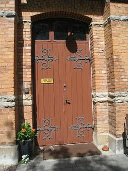Door, Building, Seizure, Brick, Summer