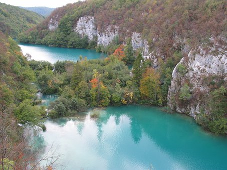 Plitvice, Lake Terrace, Autumn, Colors Of Autumn