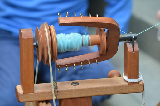 Craft, Spin, Spinning Wheel, Hand Labor, Clothing
