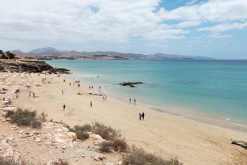 Beach, Fuerteventura, Costa Calma, Sea, Holiday