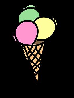 Ice Cream Cone, Ice Cream, Ice, Waffle