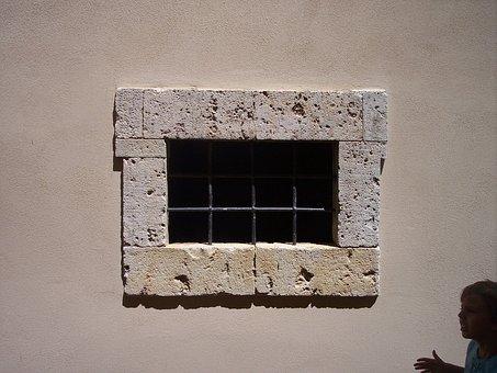 Window, Iron Lattice, Prison, Railing, Wrought Iron