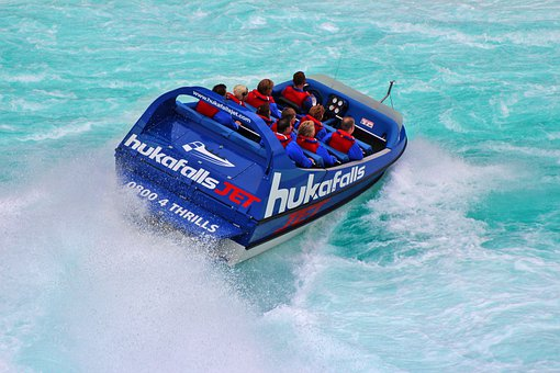 Huka Falls, Huka River, Jet Boat, Tourism, Rapids