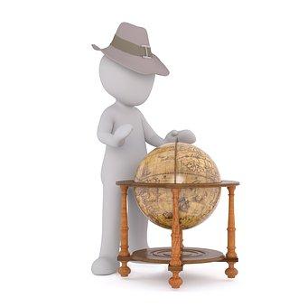 Hat, Man, Mr, Human, Game Figure, Stone, Archaeologist
