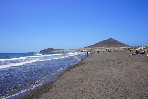 Beach, Medano Beach, Tenerife, Coast, South Coast